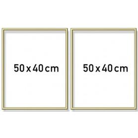 Aluminium lijst tweeluik 50x80cm