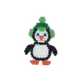 Grondplaat Hama Pinguin met muts