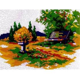 Stickit  41164 Bankje in het bos