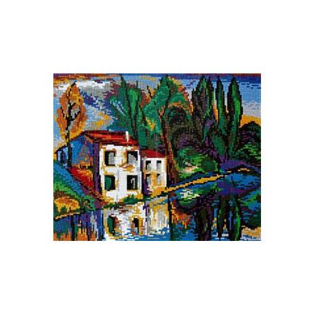Stickit 41212 Huis aan de rivier