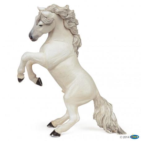 Papo 51521 Wit steigerend paard