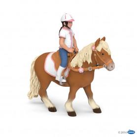 Papo 51559 Shetland Pony mit Sattel