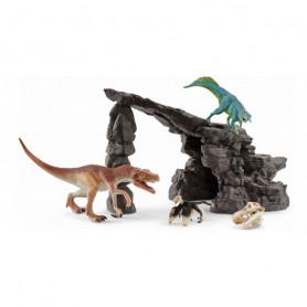 Schleich 41461 Kit de dinosaures avec grotte
