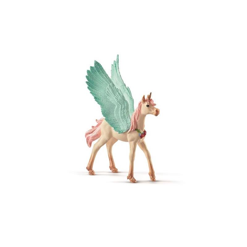 Schleich 70575 Bayala Decorated unicorn Pegasus, foal