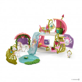 Schleich 42445 Glittering flower house with unicorns, lake and stable