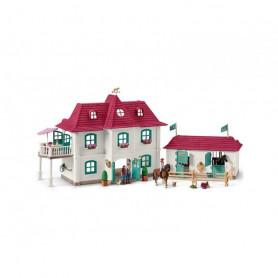 Schleich 42416 Grote manege met woonhuis en stal
