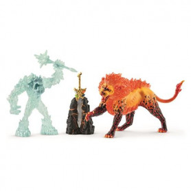 Schleich 42455 Battle for the Superweapon – Frost Monster vs. Fire Lion